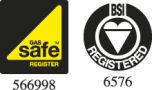 OPM Gas Safe & BSI Logo